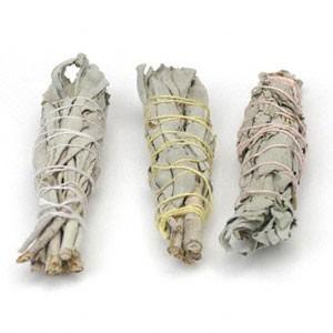 White Sage Baby Smudge Sticks, Wildcrafted - 3 Pack | 711121 15